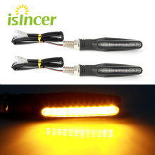 2PCS Motorcycle LED Turn Signal Lights Universal Indicator Blinker Amber Motorbike Lamp Bendable Flashing Yellow Tail