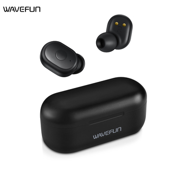 Wavefun X-Pods 2L AAC&SBC Bluetooth V5.0 TWS Earphone True Wireless Headphones Stereo Earbuds with Mic Binaural Call Headsets