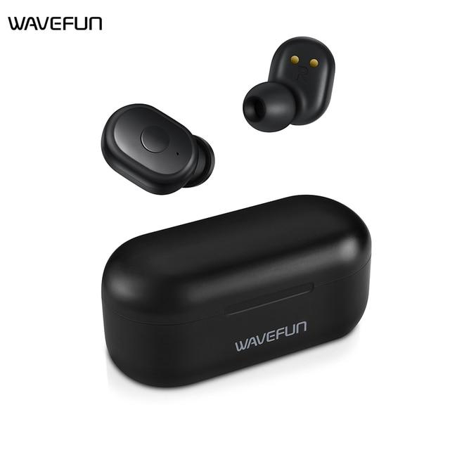 Wavefun X-Pods 2L AAC&SBC Bluetooth V5.0 TWS Earphone True Wireless Headphones Stereo Earbuds with Mic Binaural Call Headsets