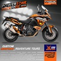 Custom Graphics Backgrounds Decals 3M Stickers Kits Cat Style For KTM ADV 1190 Adventure 1190 Customized Graphics Free Shipping