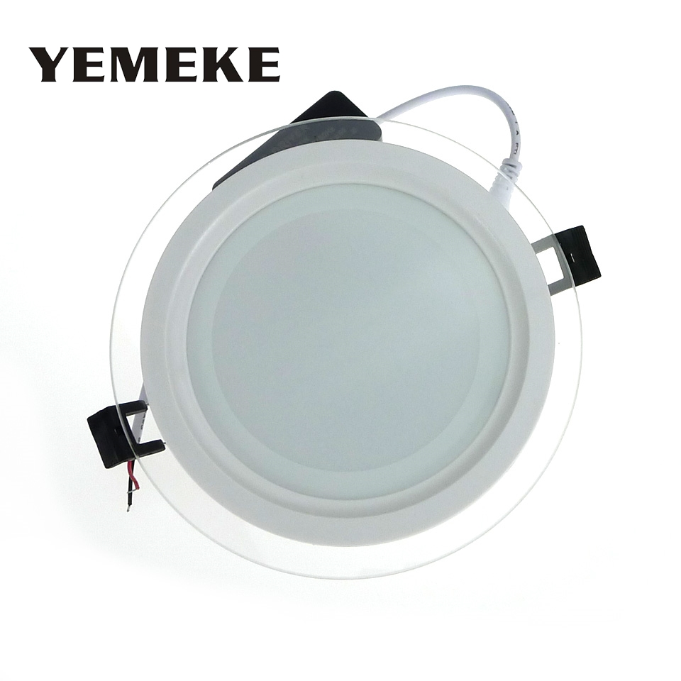 20pcs DHL Free Dimmable LED Downlight 6W 12W 18W SMD 5730 LED Panel Light Round Glass Cover Ceiling Recessed Lamp Panel Lamp