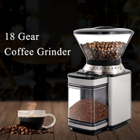 18 Size Adjustable Coffee Grinder Household Commerical Electric Coffee Grinding Machine XFK B96 Large Capacity Bean Grinder