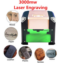 DIY Laser Engraving Machine High Speed Household Printer Automatic Handicraft Wood engraver Tool Of Custom Logo 3000MW