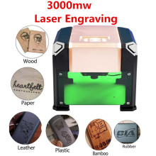 High Speed 3000MW Laser Engraving Machine DIY Laser Engraver Printer Automatic Handicraft Wood Burning Tool for Custom Logo