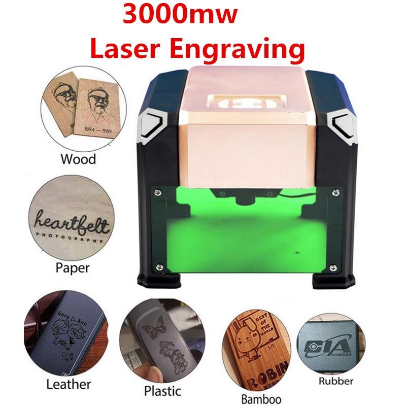 Nouvelle Machine de gravure Laser haute vitesse 3000MW bricolage Laser graveur imprimante automatique artisanat bois outil de gravure pour Logo personnalisé