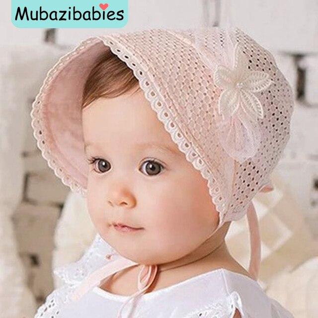 Princesse Évider Doux Bébé Fille Chapeau D\u0027été Dentelle,up Bonnet Rose/Blanc