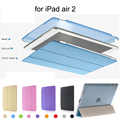 Shell protector para apple ipad air 2 case slim-fit case cubierta para ipad 6 inteligente con auto sleep/wake feature