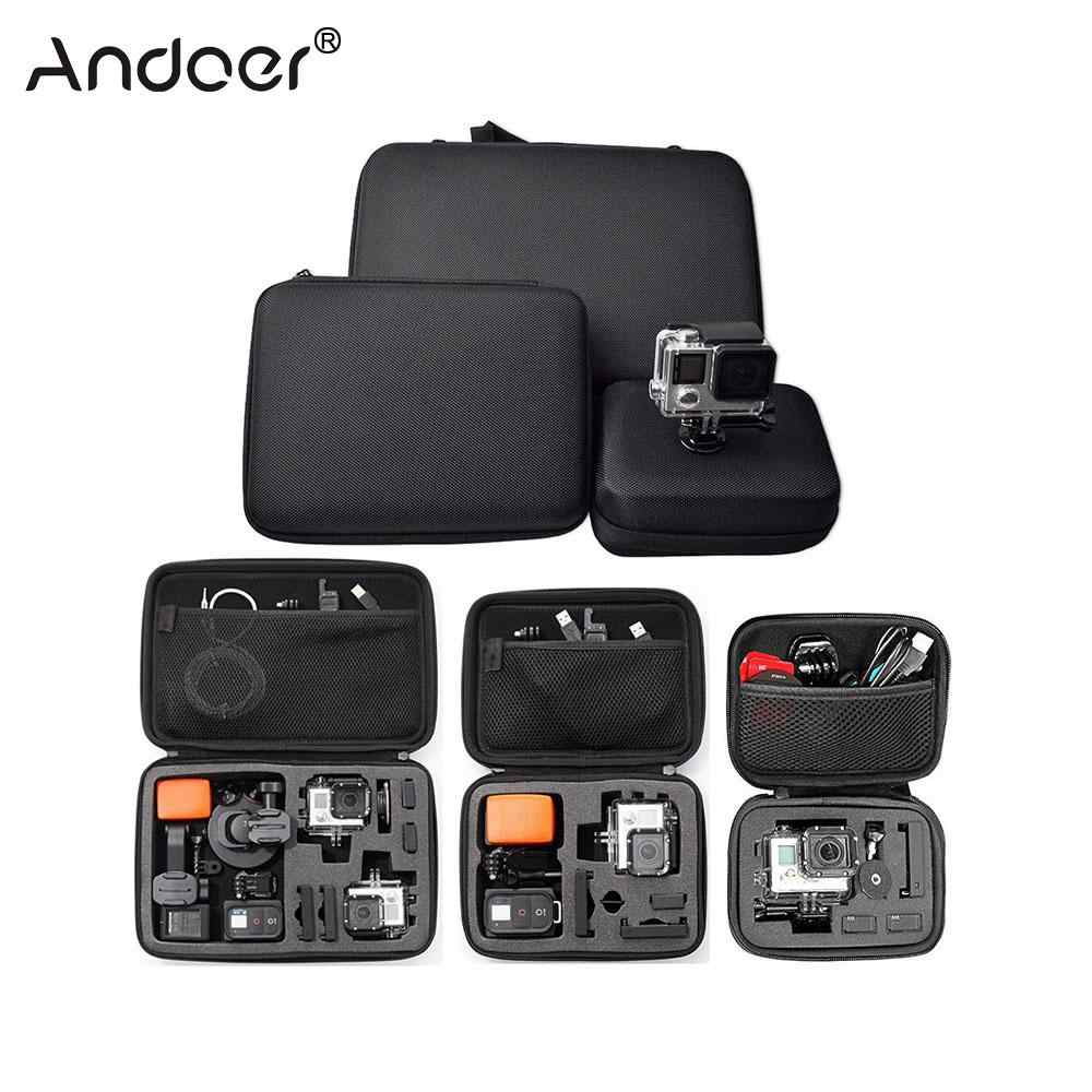 Andoer Portable Action Camera Case Protective Case for GoPro Hero Sport Camera Accessory Anti-shock Storage Bag