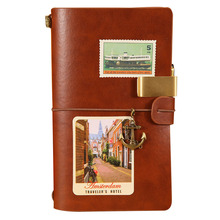 Travelers Brown Faux Planner Leather Quaderno Vintage Retro Pirate Grid Kraft Lined Graph Paper Notebook Pocket Books Stationery travelers brown faux planner leather quaderno vintage retro pirate grid kraft lined graph paper notebook pocket books stationery