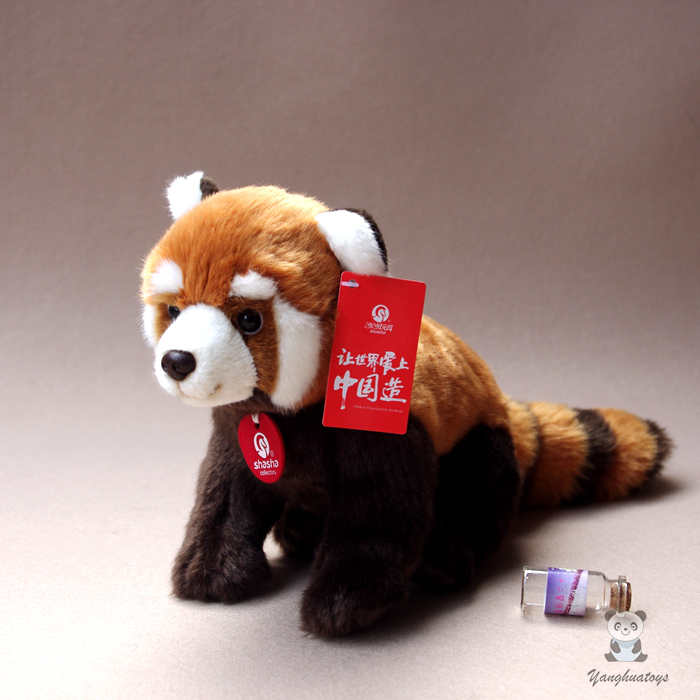 Kids Toys  Plush Panda Doll  Cute  Red Panda  Simulation Animal  Raccoon Dolls Holiday Gifts чехол для карточек cute raccoon дк2017 114