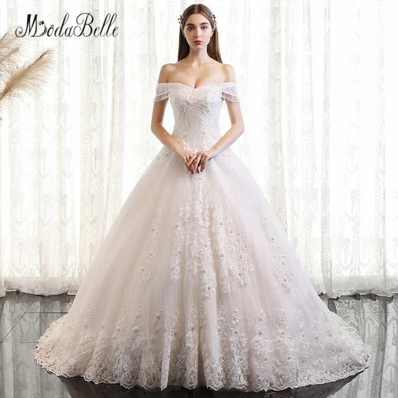 Buy modabelle off shoulder lace beaded for Wedding dress shops in ma