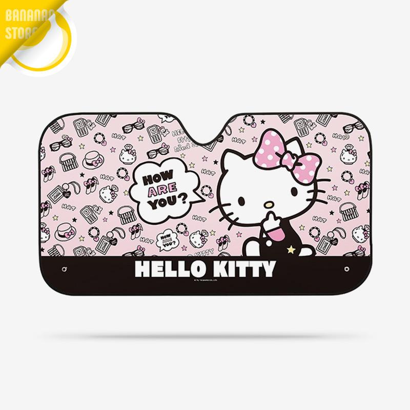 Hello Kitty Cartoon Cute Car Windshield Sunshade Windscreen Cover Solar Protection Auto Zonnescherm Parasole Parasol Coche A12