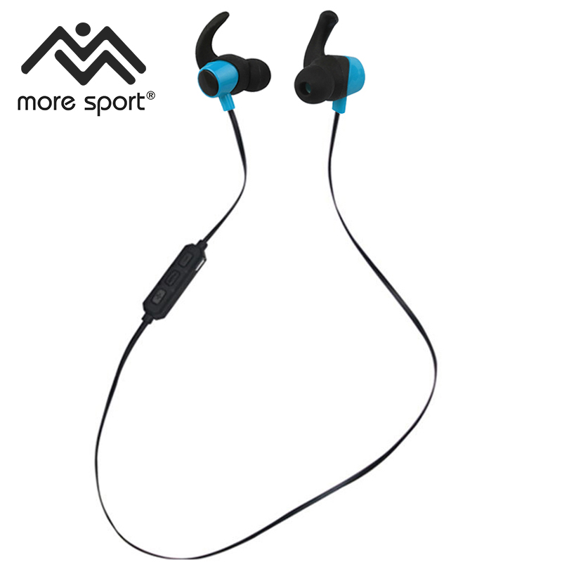 More Sport Bluetooth Waterproof Sweatproof IPX5 Earphones Sports Running Stereo Bass With Mic