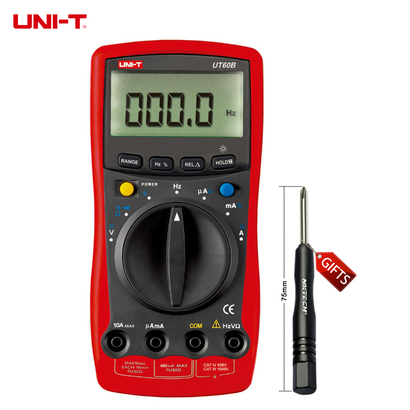 ФОТО UNI-T UT60B Modern Auto Ranging Data Hold DMM Digital Multimeters W/ Capacitance & Frequency Test Ammeter Multitester