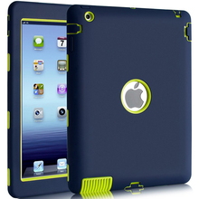 купить Top Quality Armor Shockproof Case for iPad 2 iPad 3 iPad 4 Silicone Heavy Duty Hard Case Cover Full Body Protective w/Stylus Pen онлайн