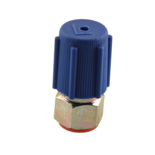7/16 Low A/C Service Charging Port Adapter Retrofits R12 to R134a with Cap removable Schrader valve Removable Valve