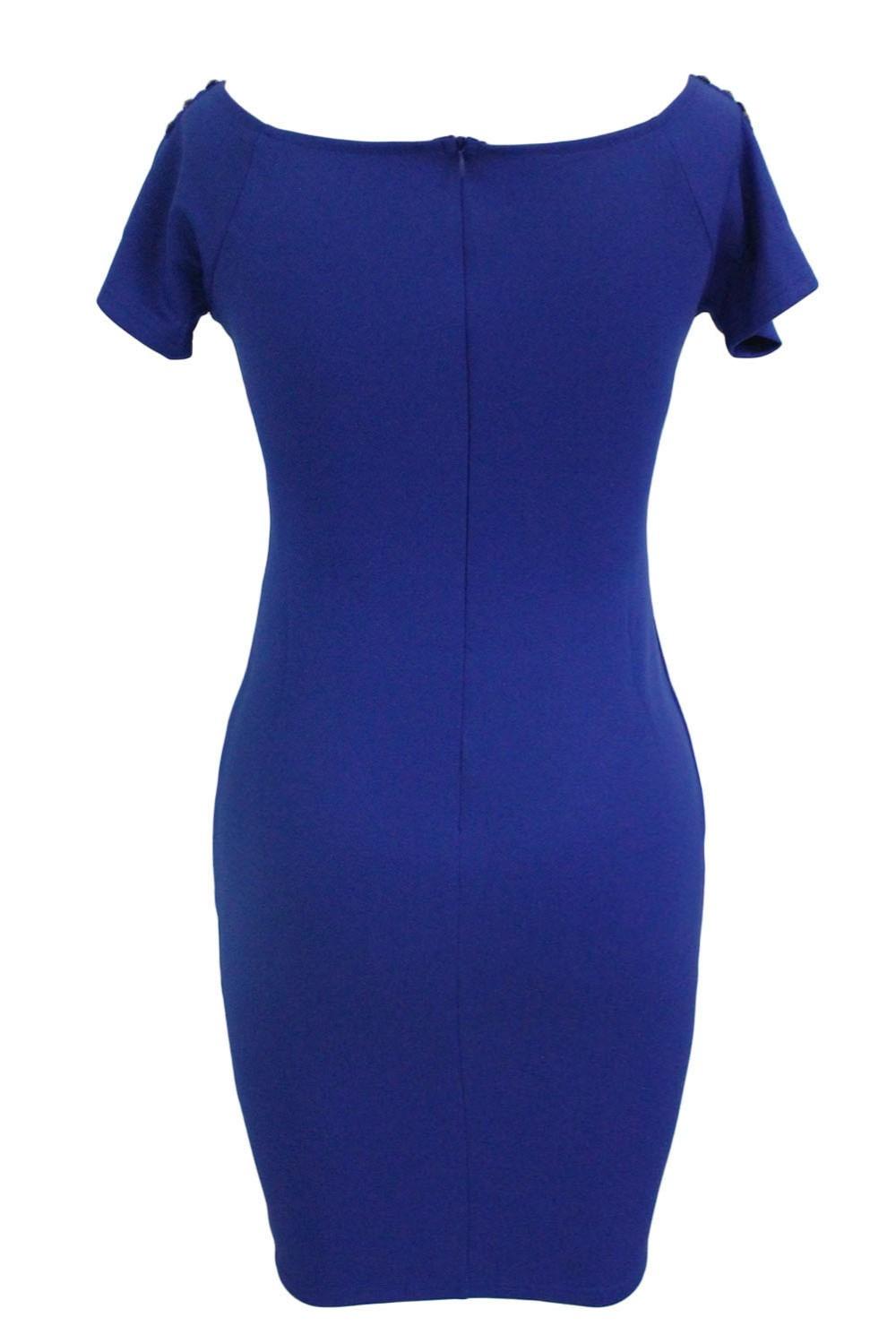 Studded-Off-Shoulder-Blue-Short-Sleeve-Bodycon-Dress-LC61188-5-3