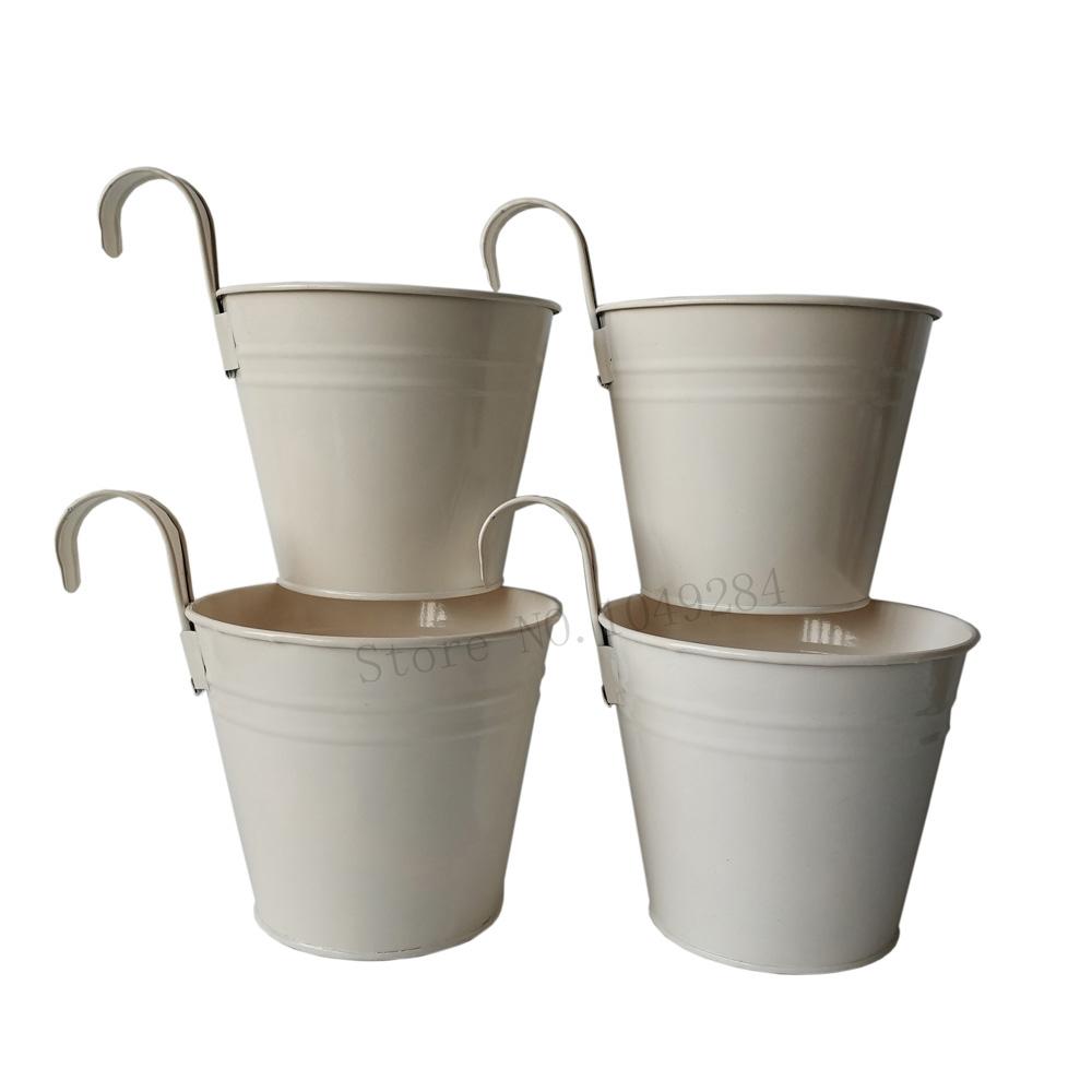 plantador de jardn de metal caja de hierro pared jardinera maceta maceta colgante redondo de la