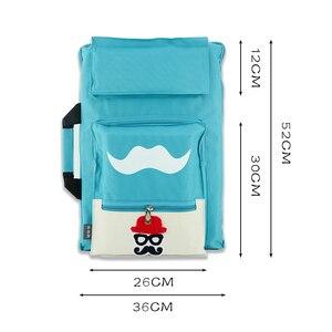 Image 4 - Bolsa de arte para niños de 8K, conjunto de pintura para tablero de dibujo A3, bolsa de dibujo de viaje para pintura en lienzo, suministros de arte para niños, mochila de artista
