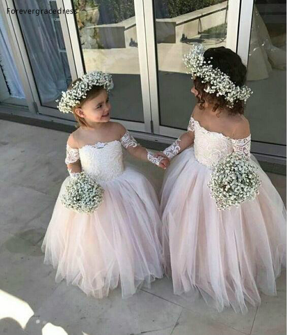 2019 Princess Cheap Lovely For Country Garden Boho   Flower     Girl     Dresses   Daughter Toddler Pretty Kids Pageant Formal Gown