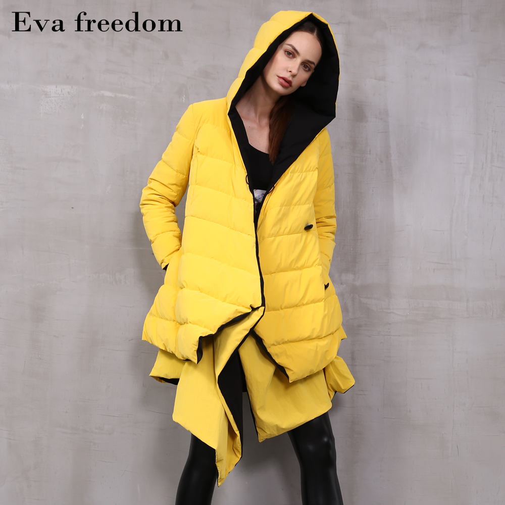 Asymmetrical double-sided wear warm   down   Parka jackets female 90% real duck   down     coats   fake two pieces silver   down     coat   wq2470
