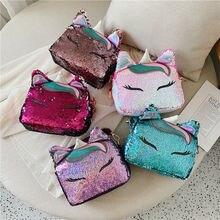Брендовые модные сумки с единорогами для девушек, дорожные женские сумки на плечо с мультяшным принтом, роскошные кожаные сумки через плечо с блестками