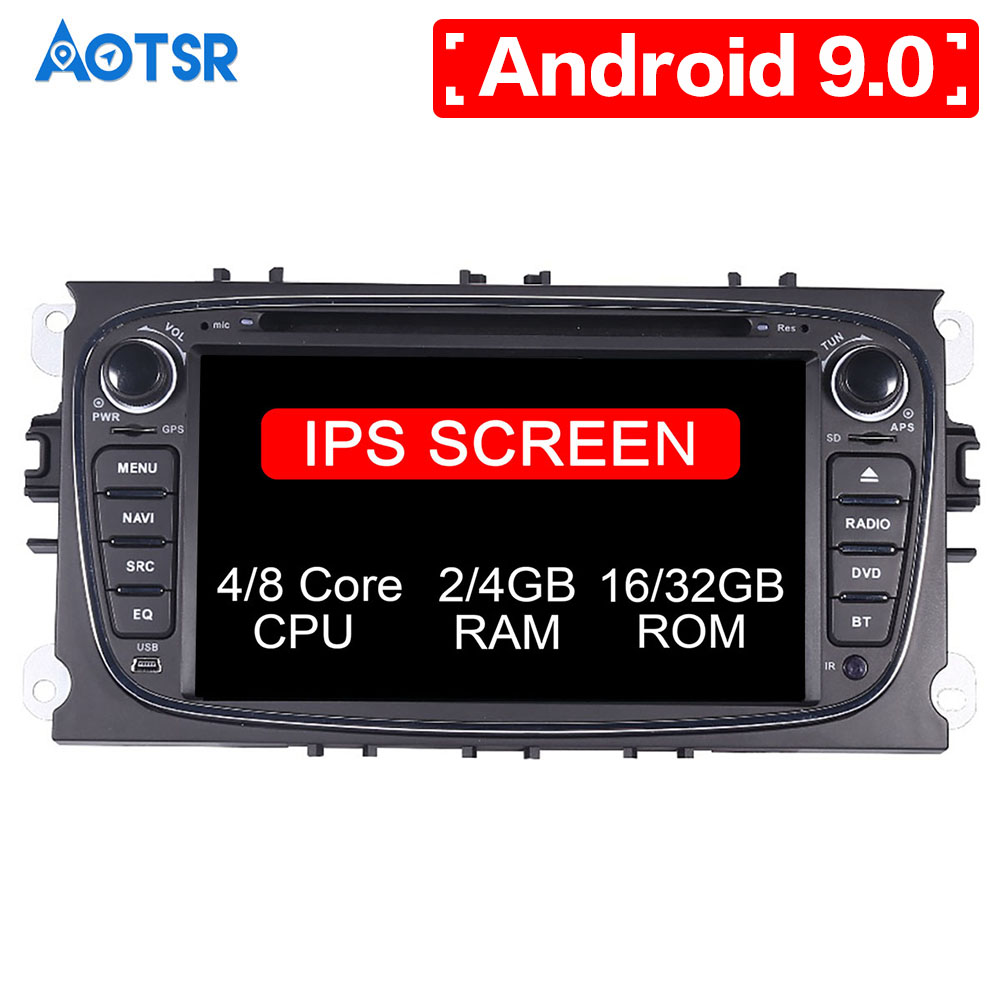 Android 9.0 8 core Car DVD CD player GPS Navigation For <font><b>FORD</b></font>/<font><b>Focus</b></font>/S-MAX/Mondeo/C-MAX/Galaxy Multimedia system <font><b>Auto</b></font> <font><b>radio</b></font> Stereo image