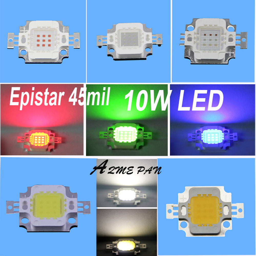 2pcs/lot 10W High Power LED Bulb lamp Color: White/Warm white /Red/Green/Blue/Yellow/RGB