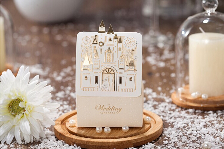 WISHMADE Church Laser Cut Wedding Boxes Candy Box Romantic Castle Design Wedding Favors Gifts Box Sweet