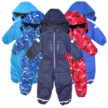 Child outdoor clothing one piece ski suit wadded jacket outerwear new arrival winter