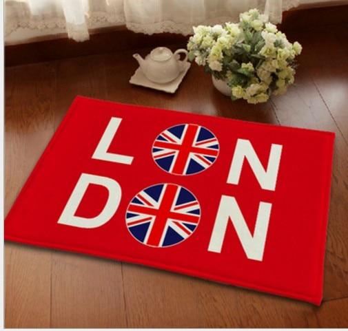 Home Carpet Uk London Flag Red Living Room Carpets Kitchen Door Rugs Anti Slip Floor Mat Doormat Crown Design Rug Tapis C30 In From