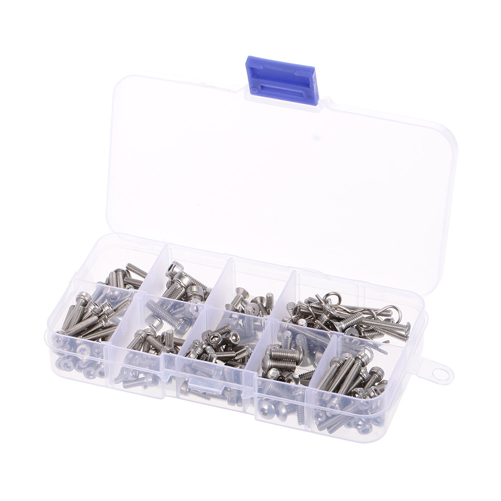 RC Screws Stainless Metal Steel Screw Kit for Traxxas Slash 4x4 Short Truck Off-road RC Car DIY Car Parts Kit ToolsRC Screws Stainless Metal Steel Screw Kit for Traxxas Slash 4x4 Short Truck Off-road RC Car DIY Car Parts Kit Tools