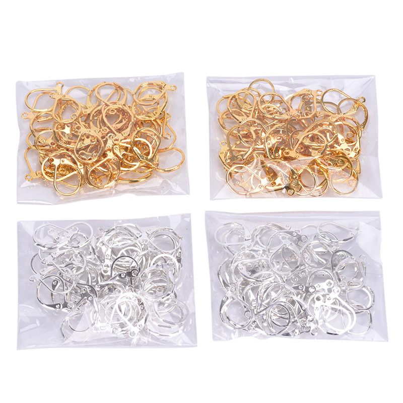 50/100pcs Jewellery Components Handmade French Earring Lobster Clasps Hooks Findings Fittings Diy Jewelry Earrings Warm And Windproof Jewelry Findings & Components