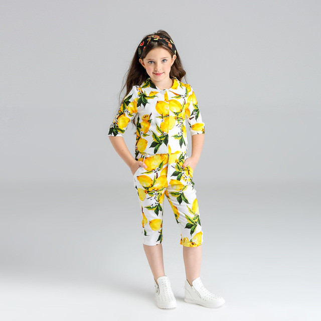 2017 Estilo Verão 3 pçs/set Bebê Meninas Moda Floral Conjunto de Roupas Roupa Dos Miúdos Treino Impressos Para Childern