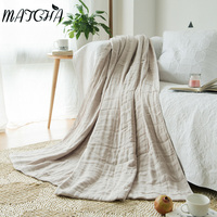 Simanfei 2017 Autumn And Winter Section Of Six Layers Of Gauze Blanket Cotton Solid Color Soft