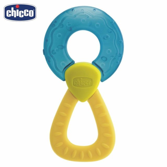 """Прорезыватель-игрушка Chicco Fresh Relax """"Кольцо"""", голубое, 4 мес.+"""