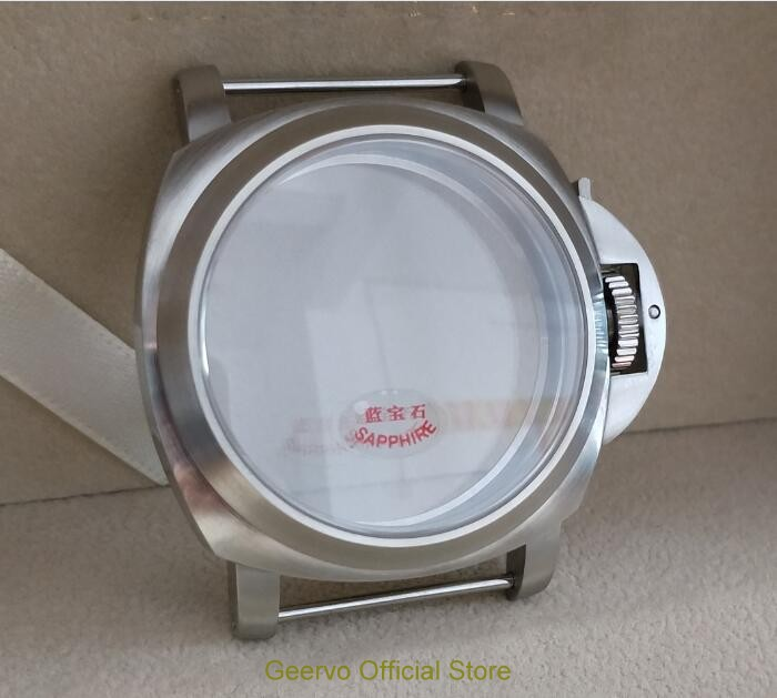 Cristallo di zaffiro 44 millimetri di Alta qualità 316L In acciaio inox 111 casse di orologi fit ETA 6497/6498 Meccanico carica a mano movimento 22A-in null da Orologi da polso su  Gruppo 2