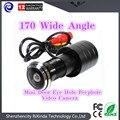 2016 venta caliente 170 Gran Angular CCD Wired Mini Agujero Del Ojo de Puerta Mirilla Cámara de Vídeo en Color DOORVIEW Cámara CCTV