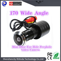 2017 Hot Sell 170 Wide Angle CCD Wired Mini Door Eye Hole Peephole Video Camera Color