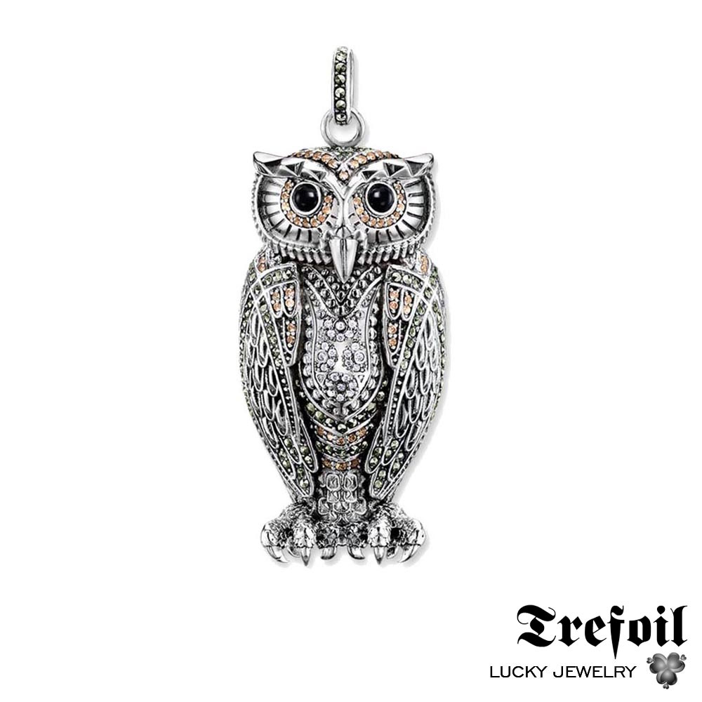 The Queen of The Night Owl Pendant, Fashion Luxury Jewelry 925 Sterling Silver Trendy Gift For Women Girls Fit Necklace 2018 ...
