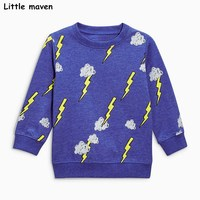 Little Maven Baby Boys Clothes 2017 Autumn New Children Terry Cotton Long Sleeve T Shirt Boy