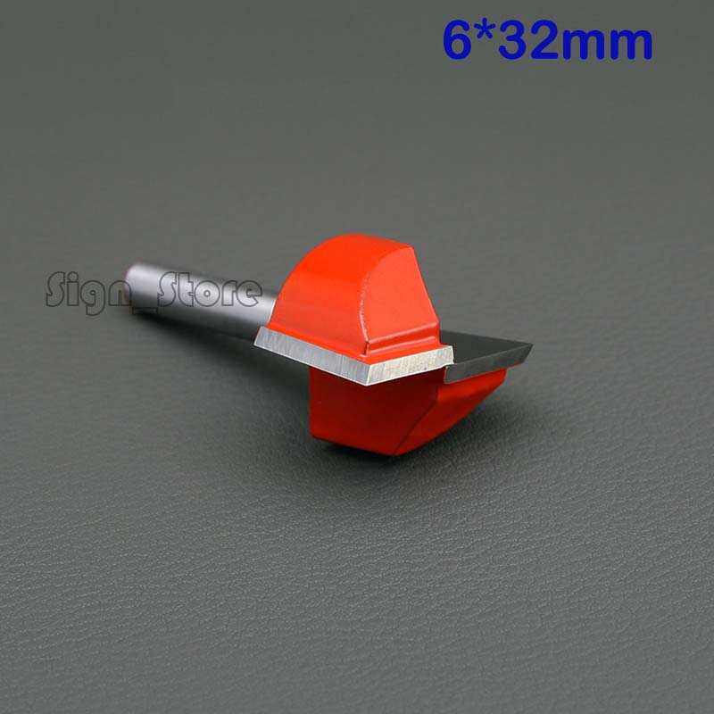 2pcs 6mm*32mm CNC carbide end mill tool 3D woodworking insert router bit Tungsten Cleaning bottom end milling cutter best price mgehr1212 2 slot cutter external grooving tool holder turning tool no insert hot sale brand new