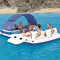 389*274cm load-bearing 600kg 10 player summer beach water playing Inflatable floating row water driftage air floating island