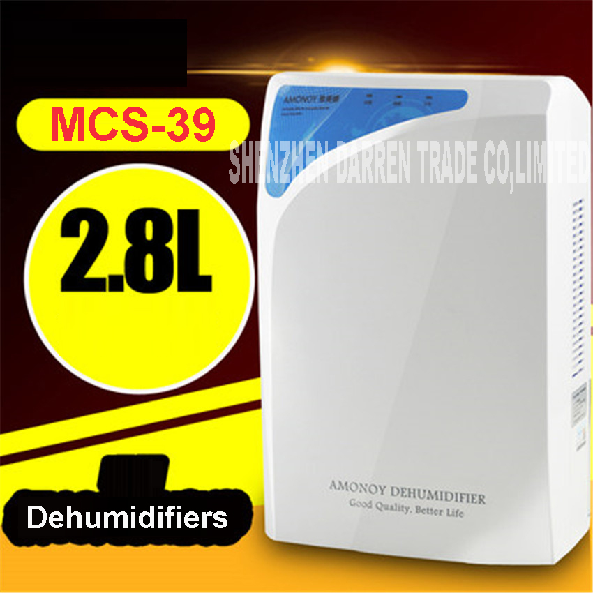 MCS-39 dehumidifier moisture absorber dryer desumidificador dry cleaning clothes domestic deshumidifier 2.8L 220V 75W 1000ml/day mcs mm52910 34213