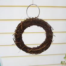 1PC 15cm Natural  Rattan Bird Parrot Swing Ring Parrot Stand Holder Bird Parrot Toys Rattan Stands