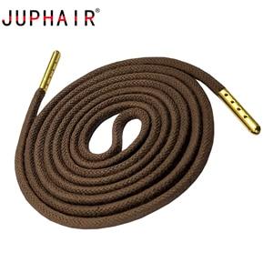 Шнурки JUPHAIR на заказ, плотные Вощеные шнурки с металлическим наконечником золотистого цвета, подходят под ботинки, кроссовки, кожаные туфли,...