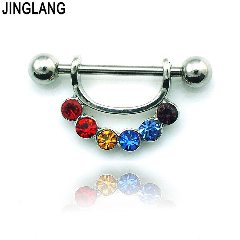 Jinglang Fashion Classic Nipple Rings 316L Stainless Steel -4262