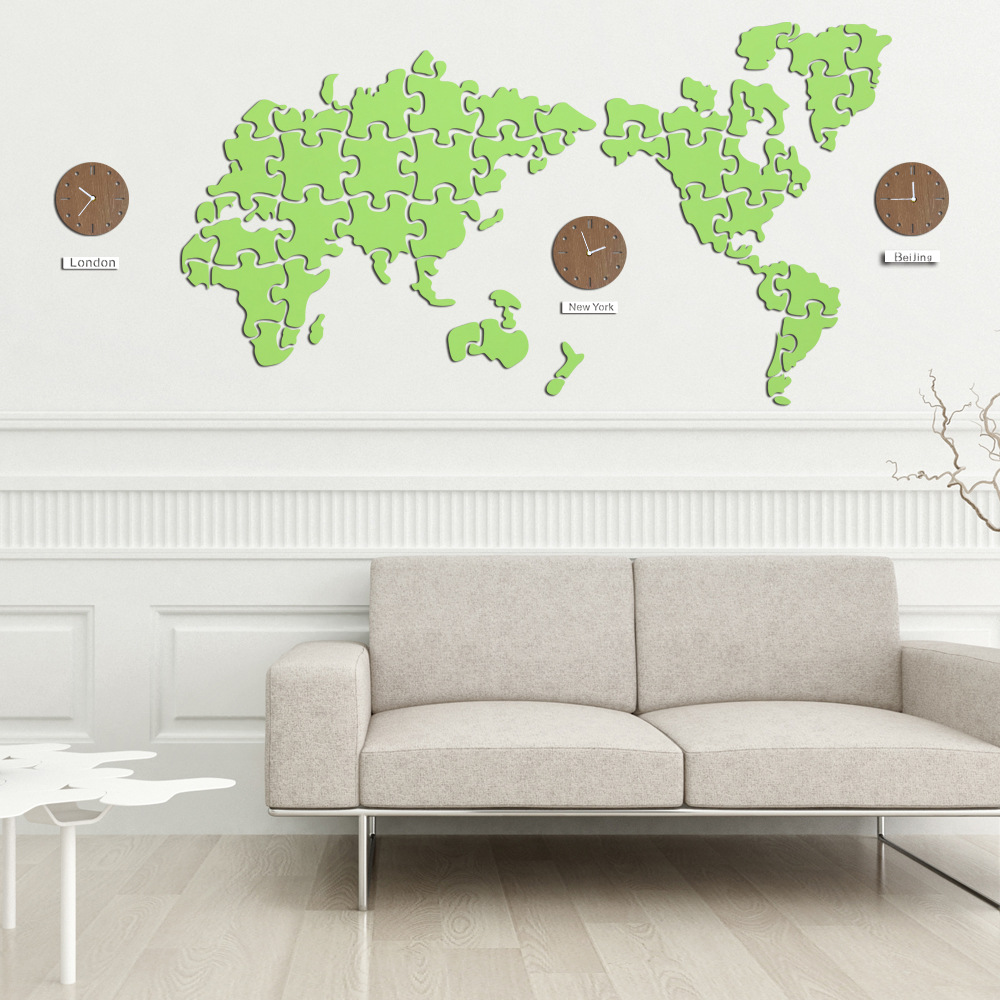 The world map wall clocks home hotel lobby front desk wall the world map wall clocks home hotel lobby front desk wall decoration supplies diy living room map watches unique clock in wall clocks from home garden on gumiabroncs Image collections