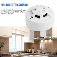 Stable Photoelectric Wireless Smoke Fire Detector Sensor 433MHz Alarm System LS 828 7P