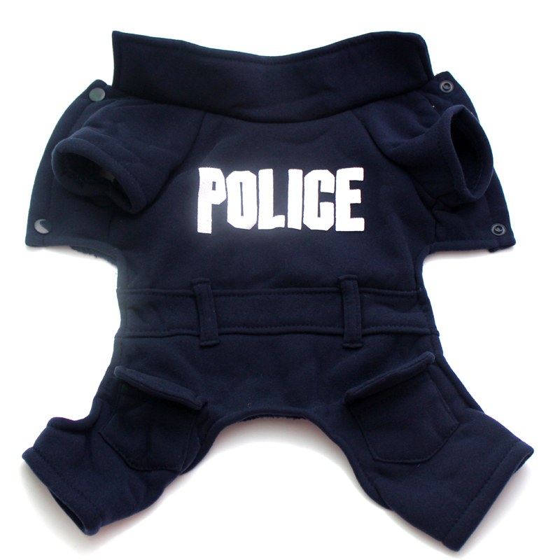 Dog Costume Cute Cosplay Clothes For Dog Letter Dakr Blue Police Pet Coat New Goods For Dog Winter Warm Product For Perro Hot